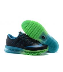 Кроссовки мужские Nike Air Max 2016 (Найк Аир Макс) Black/Blue/Green