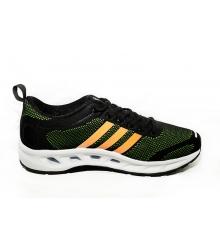 Кроссовки Adidas Climacool (Адидас Климакул) Black/Green