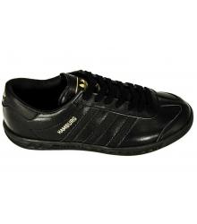 Кроссовки мужские Adidas Hamburg (Адидас Гамбург) Black Leather