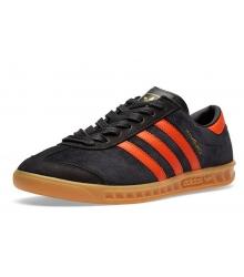 Кроссовки мужские Adidas Hamburg (Адидас Гамбург) Black/Orange