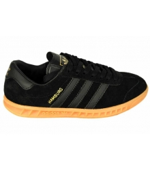 Кроссовки женские Adidas Hamburg (Адидас Гамбург) Black\Orange