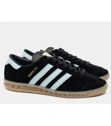 Мужские кроссовки Adidas Hamburg (Адидас Гамбург) Black/White