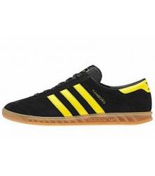 Кроссовки мужские Adidas Hamburg (Адидас Гамбург) Black/Yellow