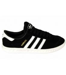 Кроссовки женские Adidas Hamburg (Адидас Гамбург) Full Black\White