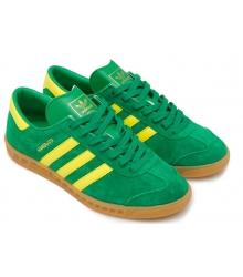 Кроссовки мужские Adidas Hamburg (Адидас Гамбург) Green/Yellow