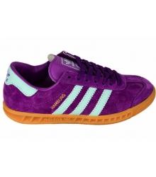 Кроссовки женские Adidas Hamburg (Адидас Гамбург) Purple/Light Blue
