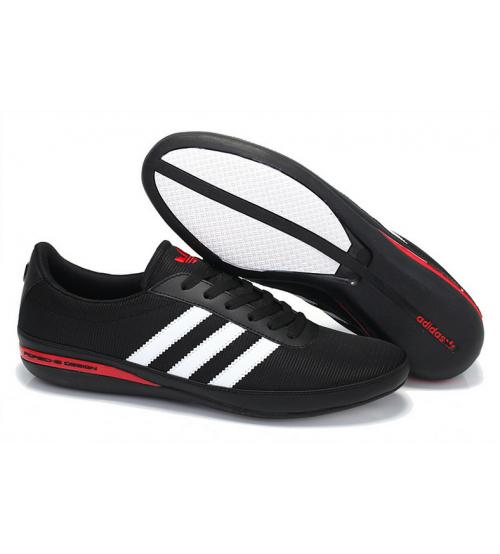 Кроссовки Adidas Porsche Design S3 Pret (Адидас Порше Дизайн) Black/White