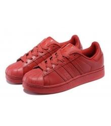 Кроссовки женские Adidas Superstar (Адидас Суперстар) Red
