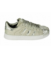 Женские кроссовки Adidas Superstar (Адидас Суперстар) Full Silver