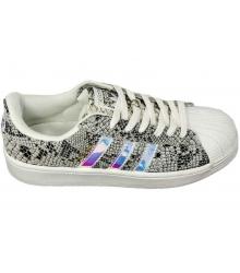 Кроссовки женские Adidas Superstar (Адидас Суперстар) Grey/Silver