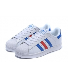 Кроссовки Adidas Superstar White/Blue/Red