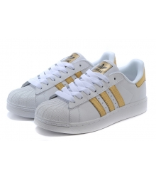 Кроссовки Adidas Superstar White/Gold