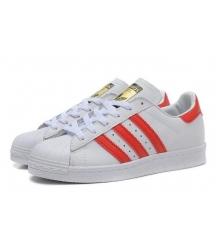 Кроссовки Adidas Superstar White/Red