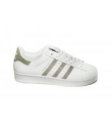 Кроссовки женские Adidas Superstar (Адидас Суперстар) White/Silver