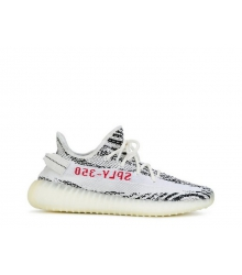 Кроссовки мужские Adidas (Адидас) Yeezy Boost 350 v2 Zebra White//Black