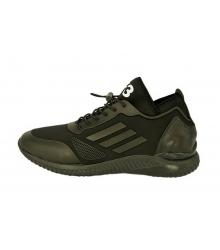 Кроссовки мужские Adidas Yohji Yamamoto (Адидас Йоджи Ямамото) Кожаные Black