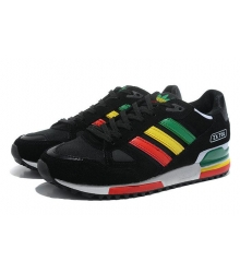 Кроссовки Adidas ZX750 Black/Green/Orange/Red