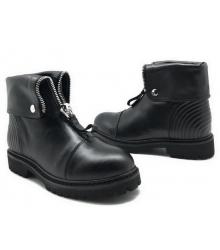 Ботинки зимние женские Alexander McQueen (Александр Маккуин) кожаные Black