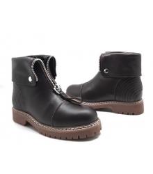 Ботинки зимние женские Alexander McQueen (Александр Маккуин) кожаные Brown