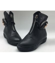 Ботинки женские Alexander McQueen (Александр Маккуин) осенние кожаные Black