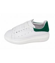 Женские кроссовки Alexander McQueen (Александр Маккуин) White/Green