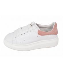 Женские кроссовки Alexander McQueen (Александр Маккуин) White/Pink