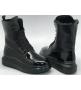 Ботинки женские Alexander McQueen (Александр Маккуин) зимние на меху кожаные Black