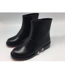 Ботинки женские Alexander Wang (Александр Ванг) кожаные Black