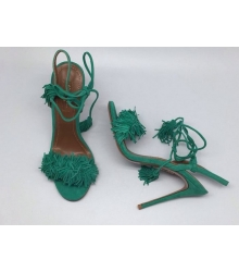 Босоножки женские Aquazzura Firenze (Эдгардо Осорио) Green