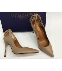Женские туфли Aquazzura Firenze (Эдгардо Осорио) кожаные Beige
