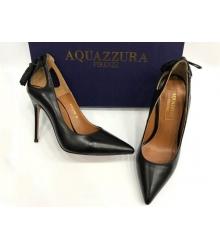 Женские туфли Aquazzura Firenze (Эдгардо Осорио) кожаные Black