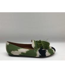 Женские слипоны Aquazzura Firenze (Эдгардо Осорио) с бубоном Green