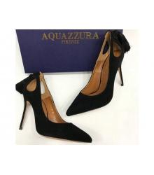 Женские туфли Aquazzura Firenze (Эдгардо Осорио) замшевые Black