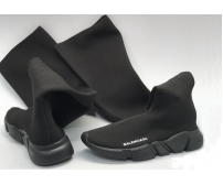 Женские кроссовки-чулки-ботфорты Balenciaga (Баленсиага) Black