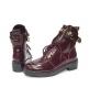 Женские ботинки Balenciaga (Баленсиага) Bordo