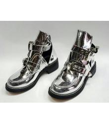 Ботинки женские Balenciaga (Баленсиага) брендовые кожаные Silver