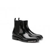 Полусапожки женские Balenciaga (Баленсиага) кожаные Black