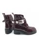 Ботинки женские Balenciaga (Баленсиага) кожаные Bordo