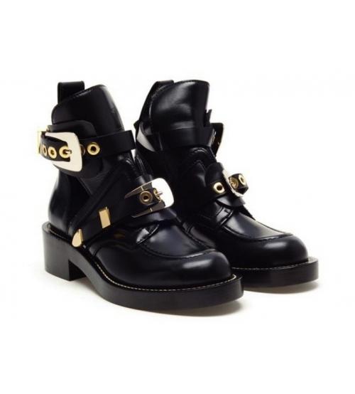 Женские ботинки Balenciaga (Баленсиага) Black/Leather