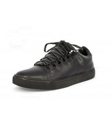 Ботинки мужские Balenciaga (Баленсиага) Low Black Leather
