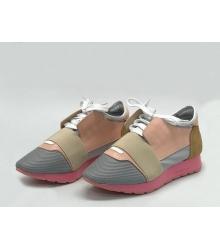 Женские кроссовки Balenciaga (Баленсиага) Race Runner кожаные Pink