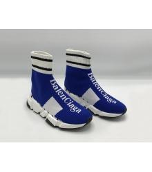 Женские кроссовки Balenciaga (Баленсиага) Speed 2019 Blue