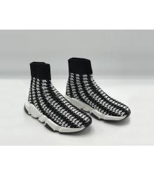 Женские кроссовки Balenciaga (Баленсиага) Speed 2019 на белой подошве Black