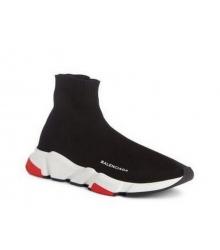 Женские кроссовки Balenciaga (Баленсиага) Speed Trainer на белой подошве Black/Red