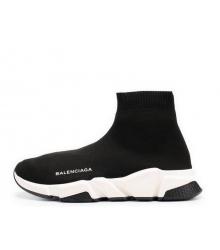 Женские кроссовки Balenciaga (Баленсиага) Speed Trainer на белой подошве Black