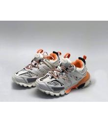 Кроссовки мужские Balenciaga (Баленсиага) Track Комбинированные на шнурках White/Orange