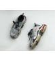 Женские кроссовки Balenciaga (Баленсиага) Trainer S кожаные на шнурках Silver