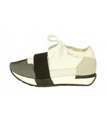 Женские кроссовки Balenciaga (Баленсиага) White/Black
