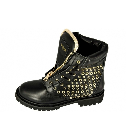 Женские ботинки Balmain (Бальман) Black/Gold