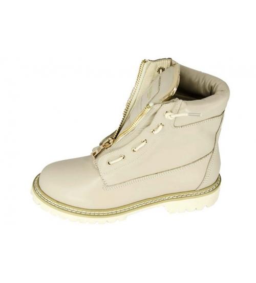Женские ботинки Balmain (Бальман) High Beige